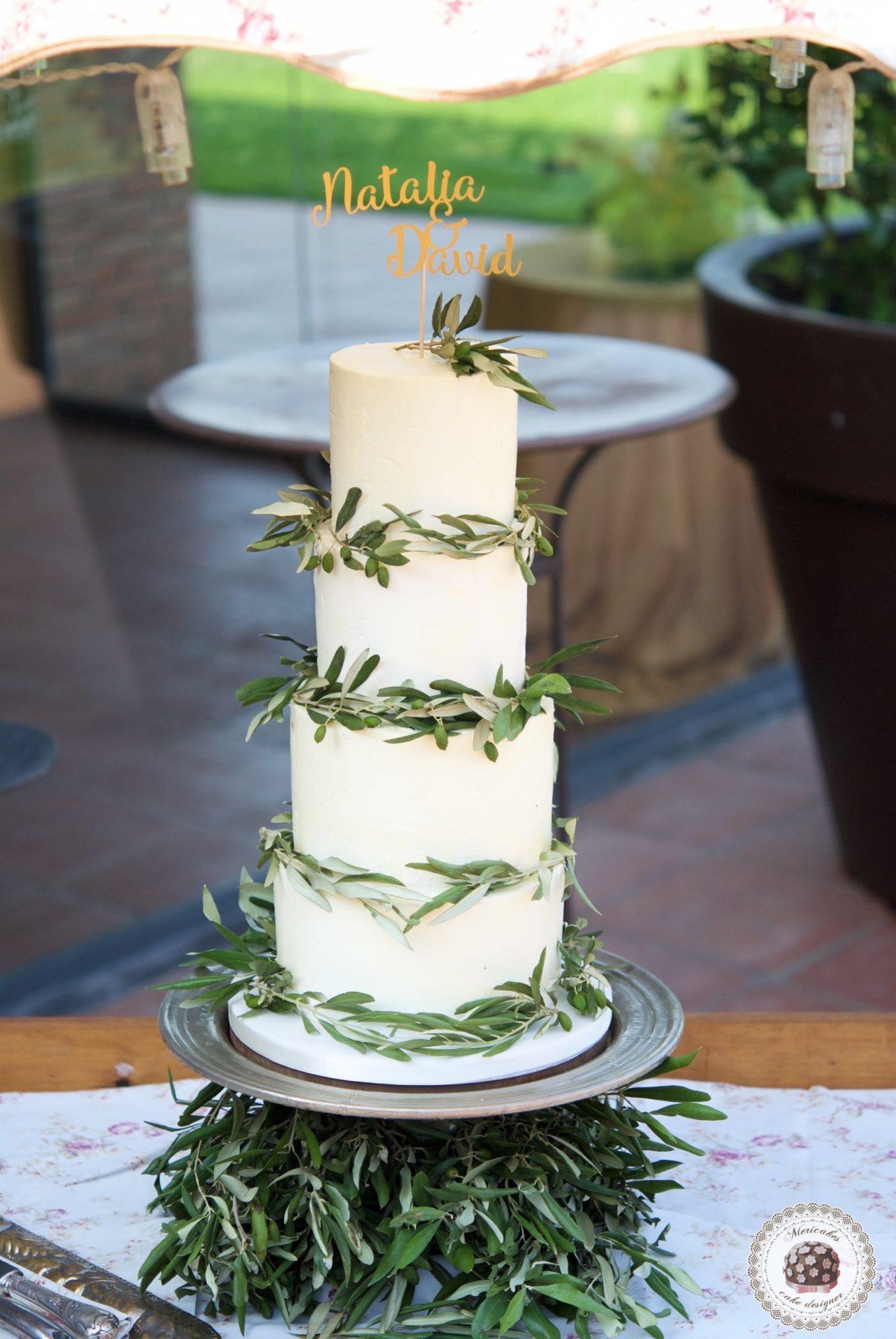 Semi naked cake, wedding cake, cream cake, tarta de boda, mericakes, olive cake, can ribas, cake topper, barcelona 7