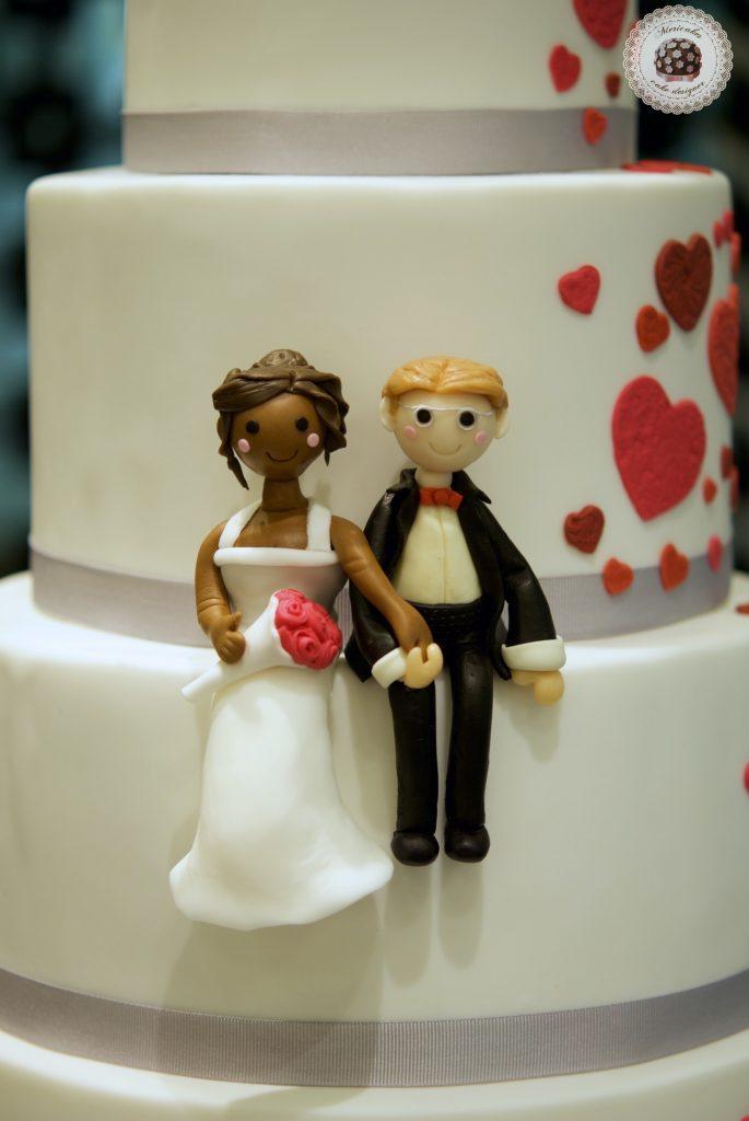 Tarta de boda, wedding cake, hearts cake, fondant, barcelona, mericakes, cava, rosas, almendra, champagne cream, groom, bride, cake topper, sugarcraft, chocolate, melia sarria 3