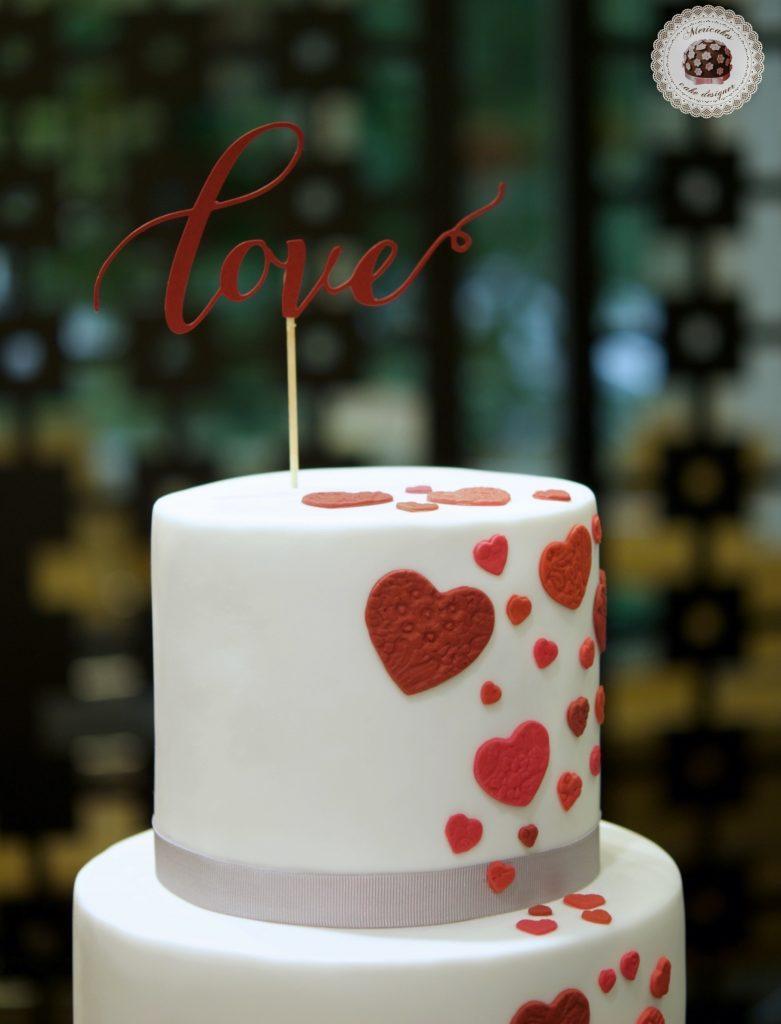 Tarta de boda, wedding cake, hearts cake, fondant, barcelona, mericakes, cava, rosas, almendra, champagne cream, groom, bride, cake topper, sugarcraft, chocolate, melia sarria 6