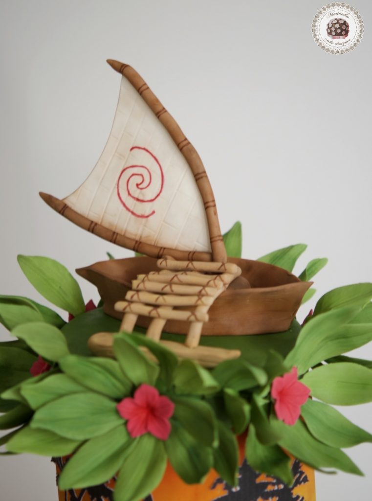 Vaina, Moana, Disney, hawaii, tropical cake, tartas barcelona, fondant, tarta cumpleaños, mericake, cupcakes, mesa dulce, cake decorating 2