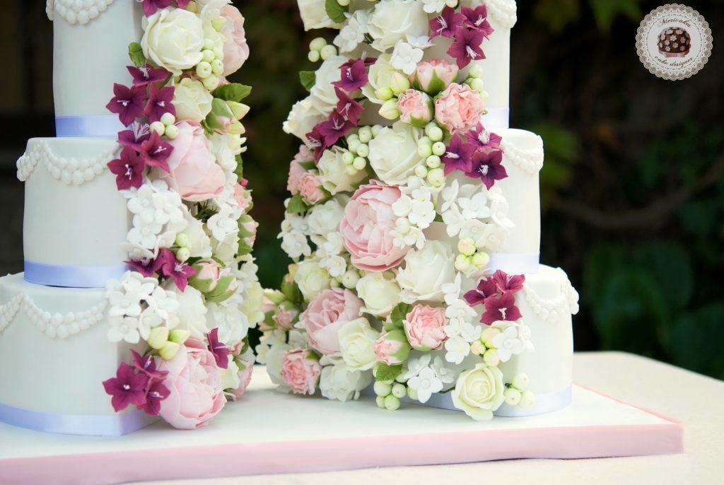 Sugar Flowers, Vegan, Wedding Cake