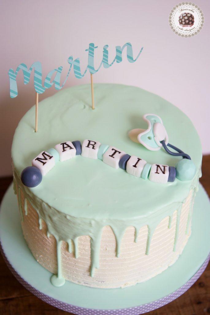 Baptism Drip Cake