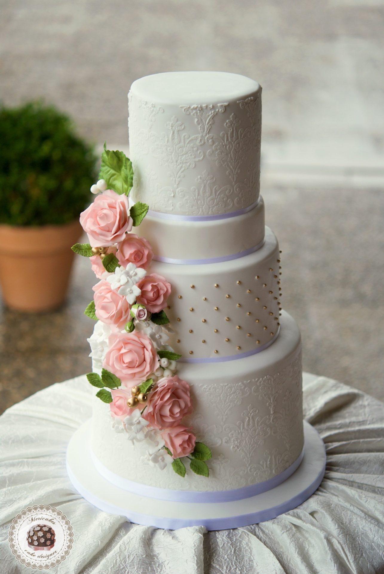 WEDDING CAKE, tarta de boda, cake artist, damask, sugar flowers, flores de aucar, hortensias, rosas, lemon curd, fondant, barcelona, mericakes