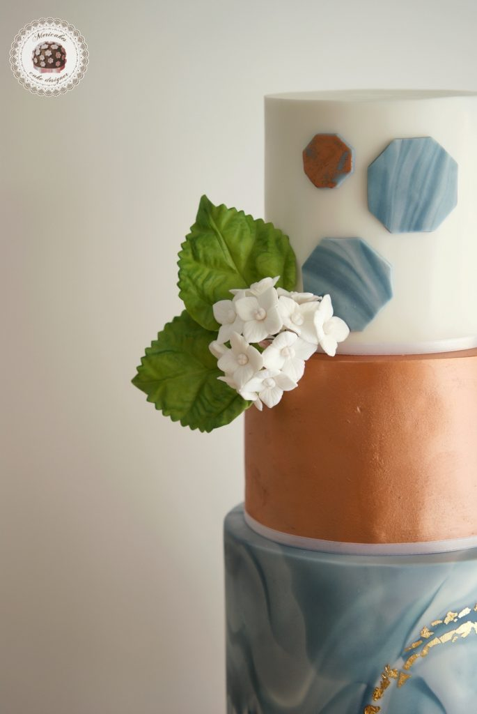 Marble wedding cake, tarta de boda, mericakes, barcelona, hydrangea, marmol, fondant cake, sequins, cake designer, luxury wedding cake 5