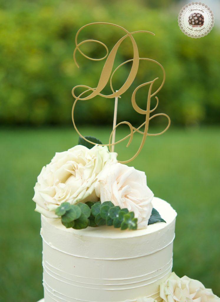 Romantic Wedding Cake, cream cake, tarta de boda, mericakes, barcelona, rosas, cake topper, eucalipto, spain wedding 4
