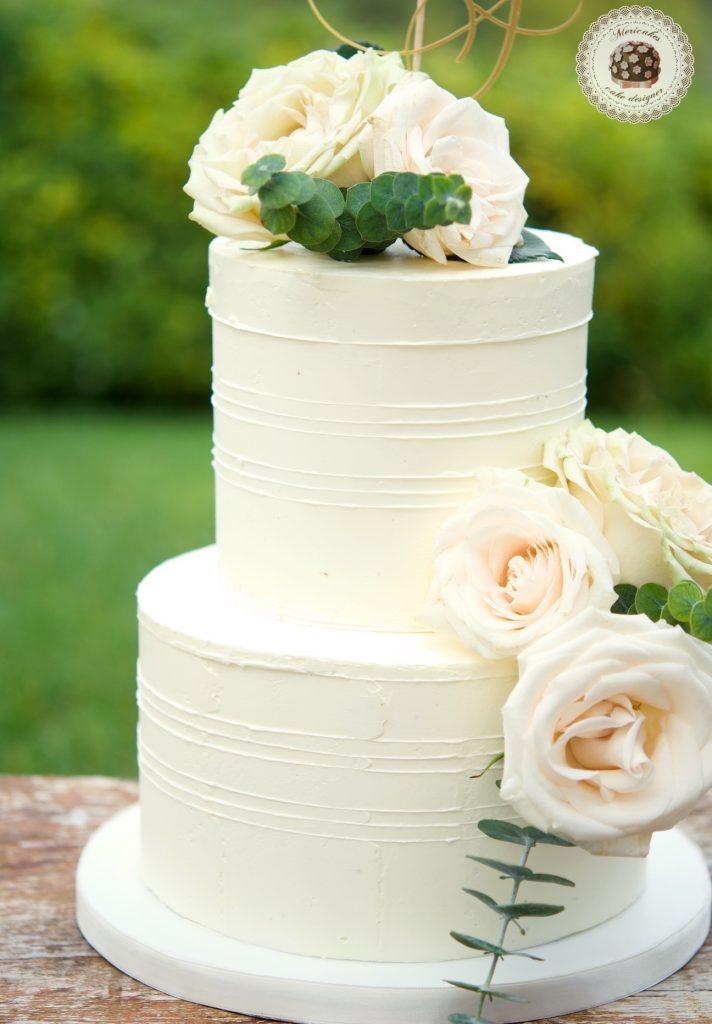 Romantic Wedding Cake, cream cake, tarta de boda, mericakes, barcelona, rosas, cake topper, eucalipto, spain wedding 5
