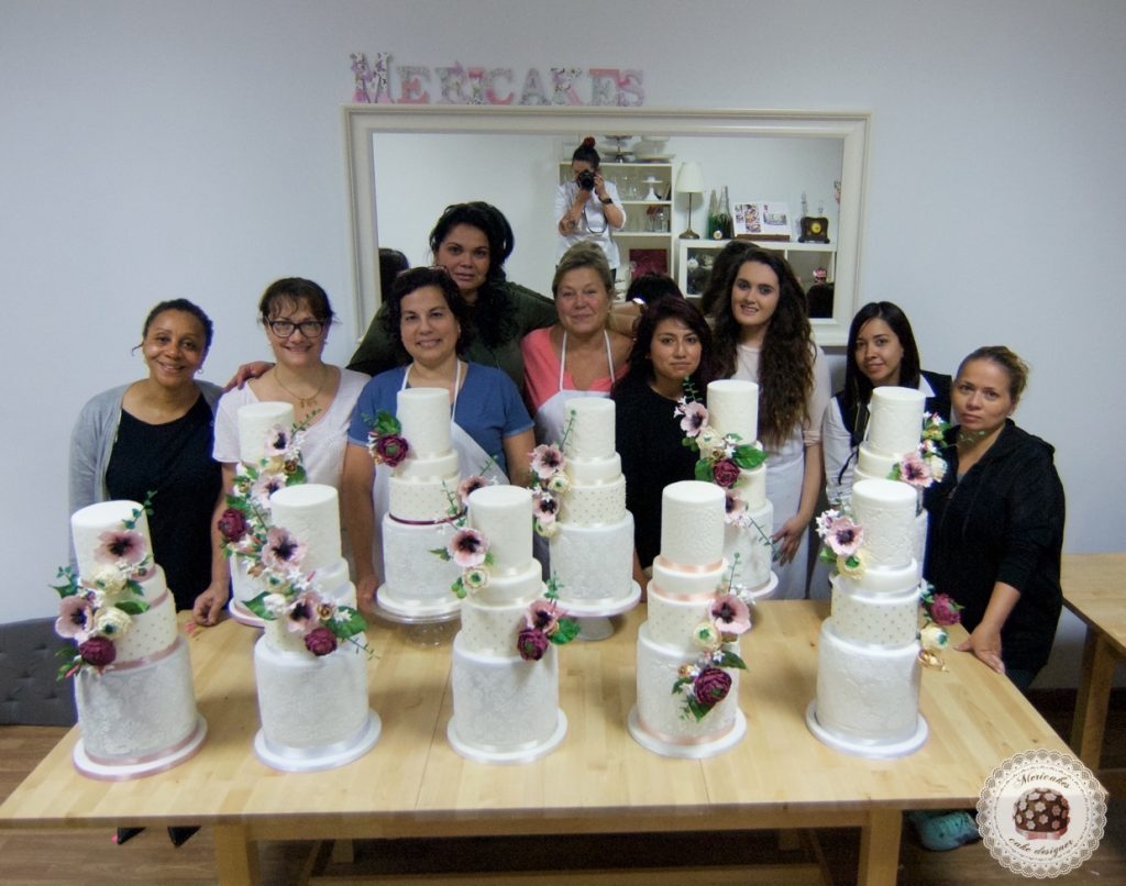 master class love is in the cake, tartas de boda, curso, escuela, sugarcraft, mericakes, barcelona, cake designer, flores de azucar, sugarcraft school 7