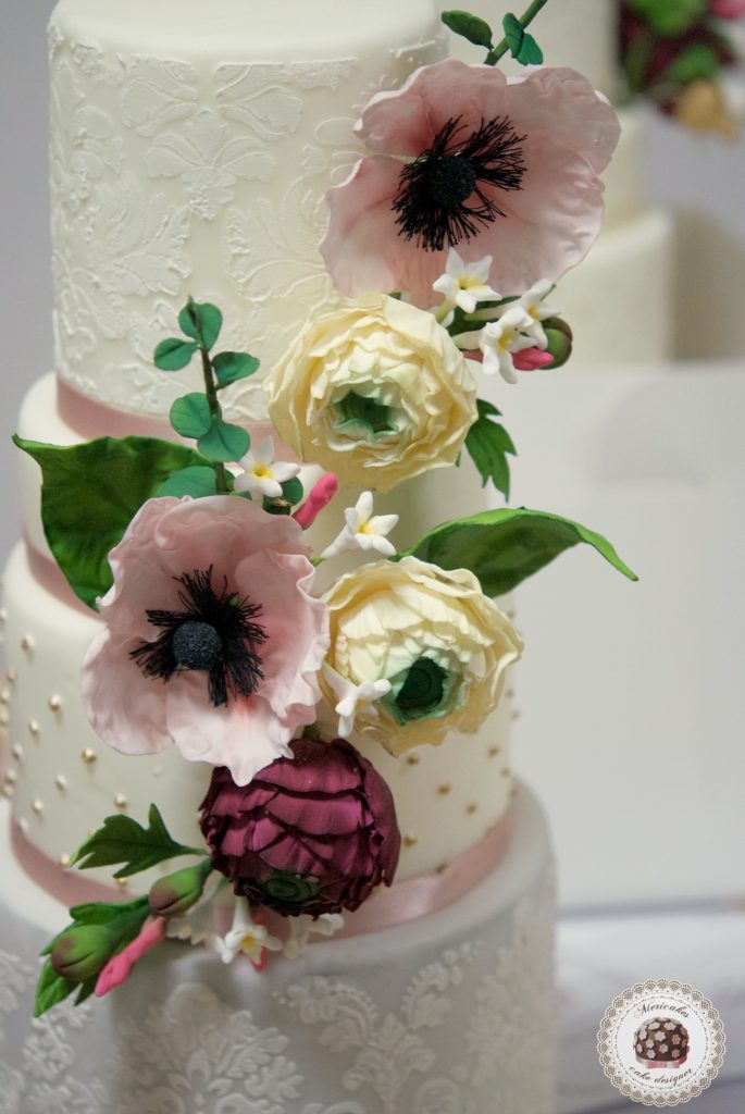 master class love is in the cake, tartas de boda, curso, escuela, sugarcraft, mericakes, barcelona, cake designer, flores de azucar, sugarcraft school 8