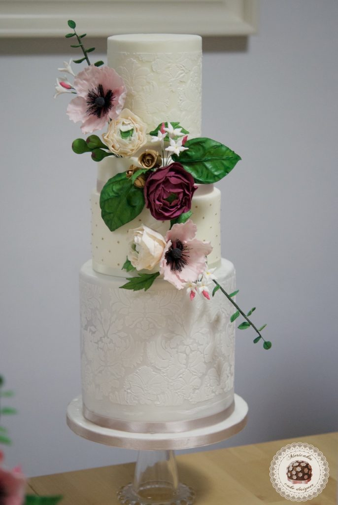 master class love is in the cake, tartas de boda, curso, escuela, sugarcraft, mericakes, barcelona, cake designer, flores de azucar, sugarcraft school 9