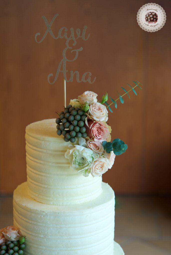 Tarta de boda Winter Flowers