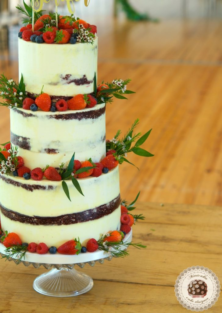 Berries Wedding Cake