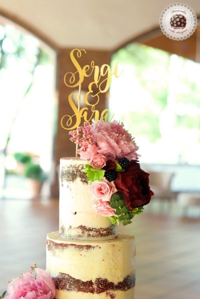 Peony Semi Naked Cake