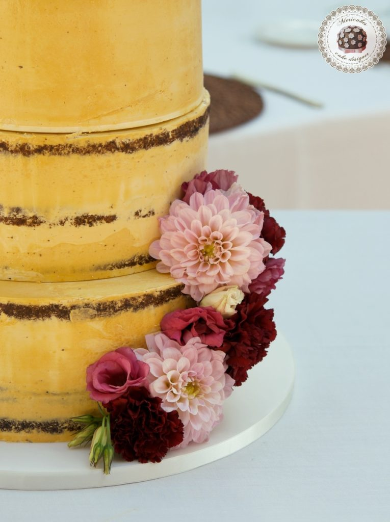 Rose Bloom Semi Naked Cake