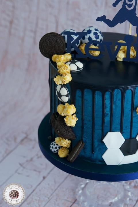 Football Drip Cake