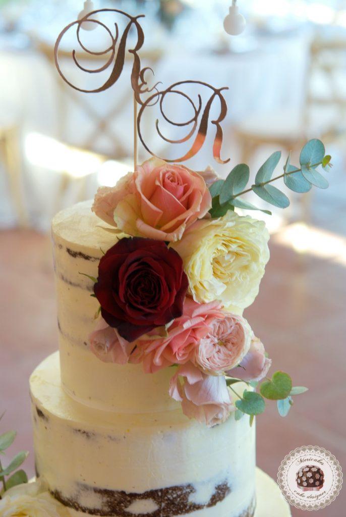 Roses semi naked cake