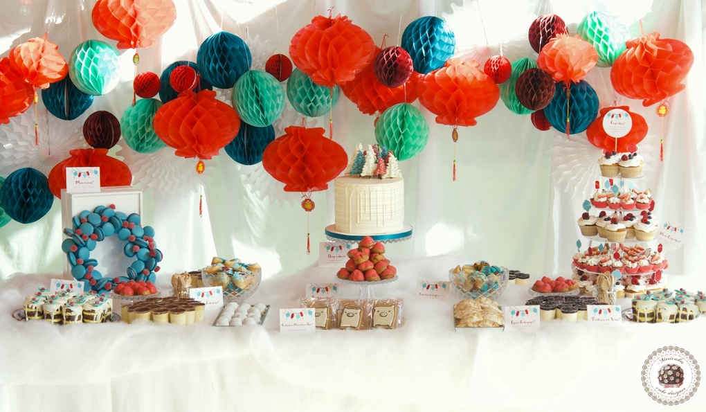 Winter Solstice Dessert Table