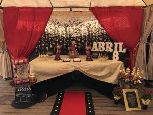 Red Carpet Dessert Table