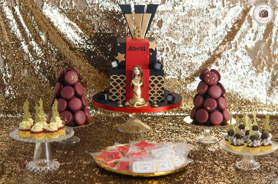 Red Carpet Dessert Table