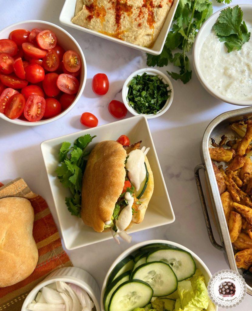 Shawarma de pollo macerado