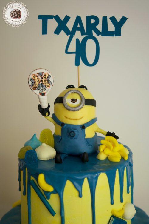 Drip Minion Cake, Minions, tarta, bithday cake, mericakes, chocolate, barcelona, padel 2