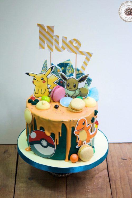 drip-cake-pokemon-pikachu-bulbasaur-charmander-tartas-decoradas-mericakes-barcelona-macarons-chocolate-pastel-de-cumpleanos-tartas-personalizadas-1