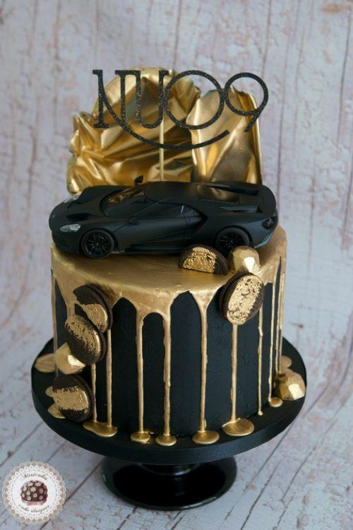 Golden Drip Cake, car cake, mericakes, birthday cake, tartas Barcelona, chocolate, pastel cumple