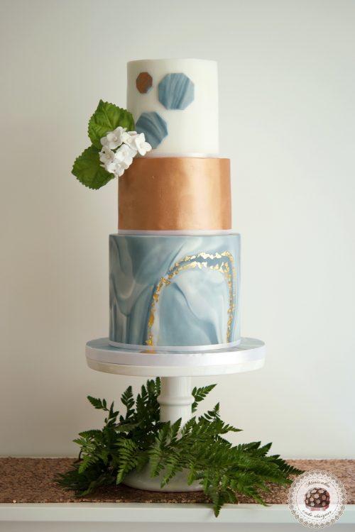 Marble and pink gold wedding cake, tarta de boda, mericakes, barcelona, hydrangea, marmol, fondant cake, sequins, cake designer, luxury wedding cake