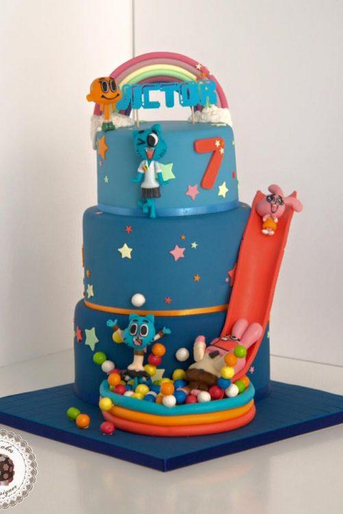 mesa-dulce-tarta-el-increible-mundo-de-gumball-cartoon-network-dessert-table-brithday-cake-barcelona-mericakes-cumpleanos-pastel-anabel-richard-darwin-fondant-4
