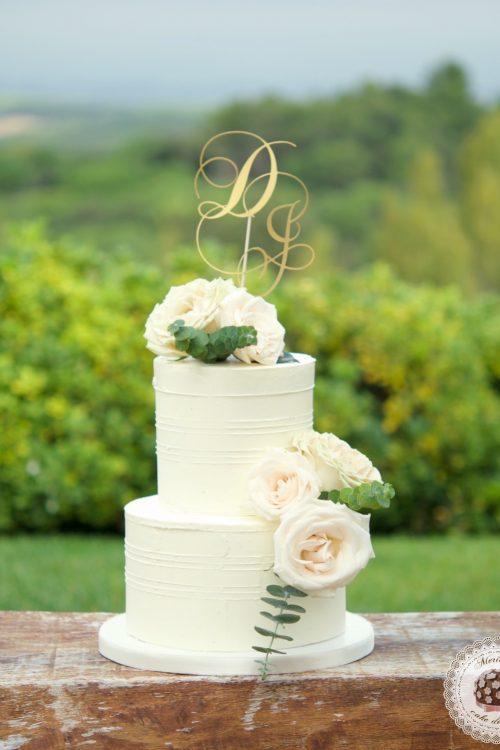 Romantic Wedding Cake, cream cake, tarta de boda, mericakes, barcelona, rosas, cake topper, eucalipto, spain wedding