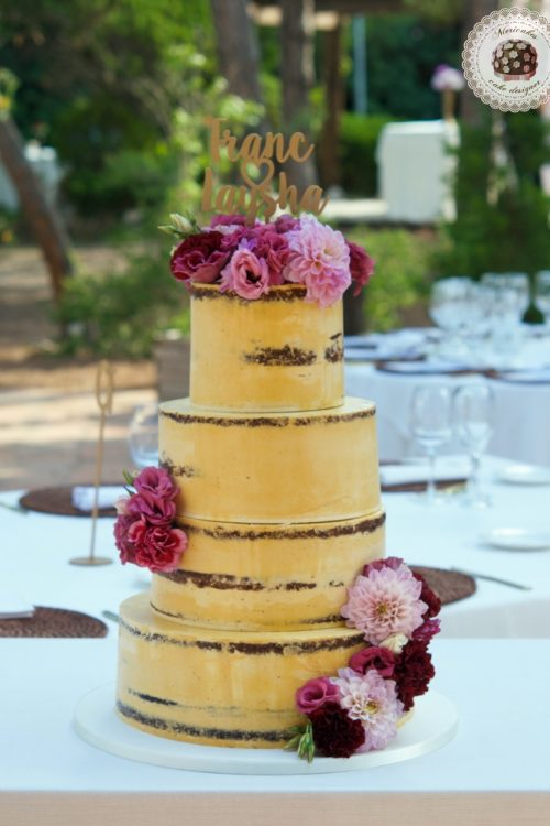 Rose Bloom Semi Naked Cake