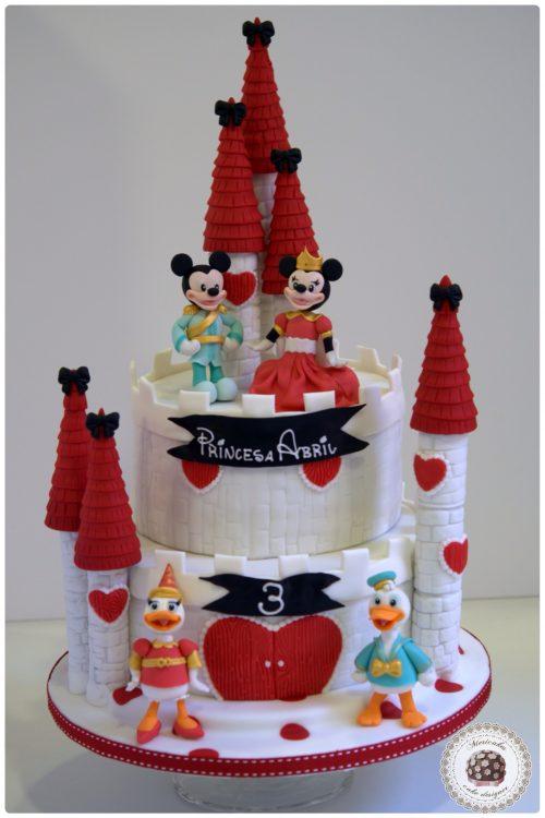 tarta-castillo-disney-minnie-mickey-donald-daisy-barcelona-fondant-mericakes
