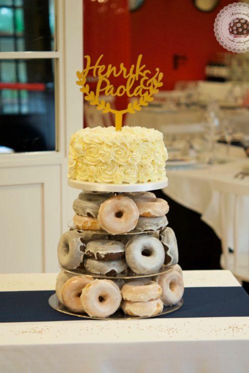 Wedding cake, tarta de boda, spain wedding, doughnuts, doughnuts tower, donuts, berlinas, donas, mericakes, barcelona, wedding stories, cream cake, cake topper, chocolate 8