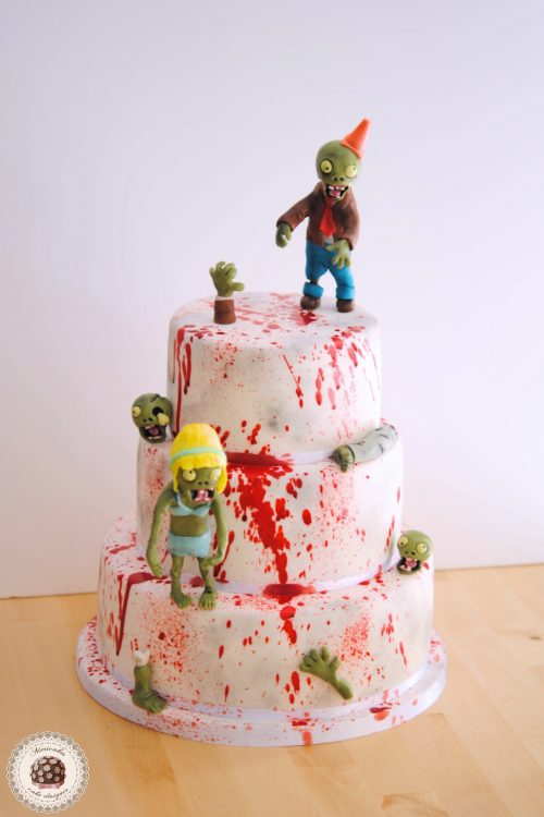 Zombie Blood party Cake