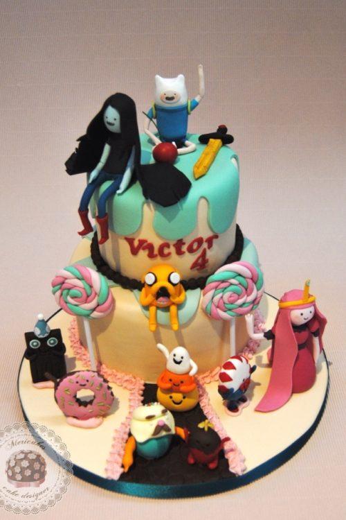 tarta-hora-de-aventuras-adventure-time-mericakes-barcelona-cake-jake-el-perro-chuchelandia-finn-el-humano